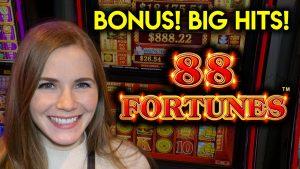 large LINE HITS! 88 Fortunes Slot Machine! BONUS!