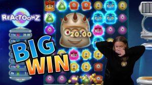 large WIN!!! Reactoonz Crazy Winning Streak!! casino bonus Games from MrGambleSlot Live current