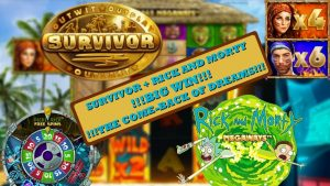 large WIN!!! SURVIVOR MEGAWAYS + RICK in addition to MORTY MEGAWAYS!!! WHAT A COMEBACK!!!