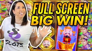 large WIN vs. large WIN !!! Slot Queen vs. Slot Hubby // Who does it improve ?