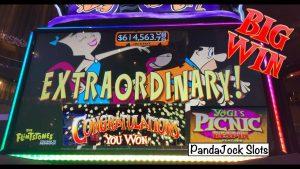 velike zmage tudi na igralnem avtomatu Yogi Bear Flintstones