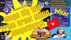 novel Game! Mega large Win From Great rhinoceros Megaways!!