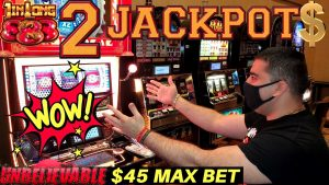 2 HUGE HANDPAY JACKPOTS On High bound JIN LONG 888 & Konami Slot Machines -Huge high bound Slot Play