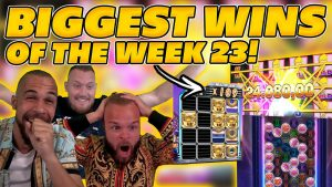 BIGGEST WINS OF THE calendar week 23! INSANE large WINS on Online Slots! TWITCH HIGHLIGHTS!