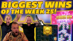 BIGGEST WINS OF THE calendar week 25! INSANE large WINS on Online Slots! TWITCH HIGHLIGHTS!