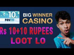 Bigwinner casino bonus unlimited paytm cash novel trick