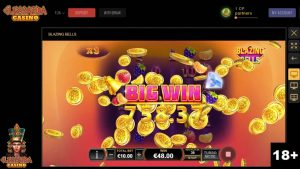 Blazing Bells – 150X large Win on Playtech Slot Machine