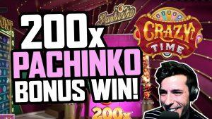 CRAZY TIME – 200x PACHINKO BONUS GAME WIN 🚀  LIVE casino bonus HIGHLIGHTS