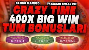 CasinoMafioso | 400X CRAZY TIME large WIN TUM BONUSLAR #slot #blackjack #bıgwın #rulet #casino bonus