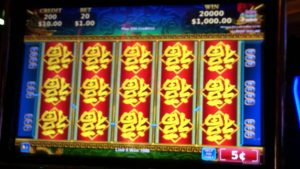China SHORES KONAMI large win slot machine at San Manuel casino bonus 07/06/2014