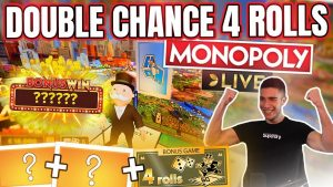 HUGE 4 ROLL POTENTIAL ON MONOPOLY LIVE | WINNING ON ONLINE casino bonus LIVE GAMES