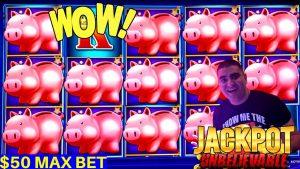 Yüksək sərhəd Piggy Bankin $ 50 Max Bet ✦HANDPAY JACKPOT✦ Yüksək sərhəd Yıldırım Bağlantısı ✦HƏDİYYƏ JACKPOT✦