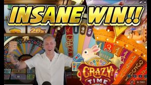 INSANE WIN!!! CRAZY TIME large WIN – Game present from Casinodaddys live current