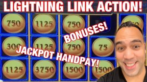⚡️LIGHTNING LINK JACKPOT HANDPAY!! | Magic Pearl large WIN BONUS!! 🌊 🎰 💰