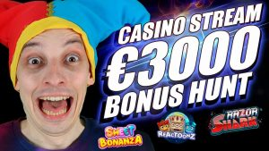 LIVE casino bonus flow €3000 BONUS HUNT | ONLINE SLOTS large WINS with mrBigSpin