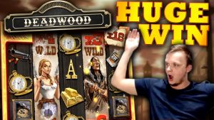 MEGA large WIN on Deadwood Slot!