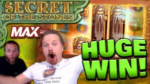 MEGA large WIN on Secret of the Stones MAX! (€10 Bet)