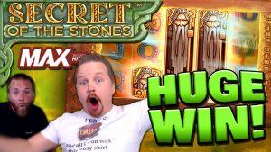 MEGA large WIN on Secret of the Stones MAX! (€10 Bet)