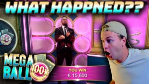 Mega Ball – large WIN on large MULTIPLIER!