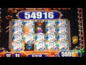 Mistiskā Unicorn spēļu automāta liela laimesta Johnny Z'S kazino bonuss Blackhawk