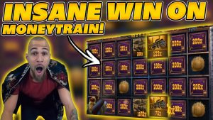 NANDO PRINTING on MONEYTRAIN! INSANE WIN! DOUBLE MACHINEGUN! large WIN on Online Slot!