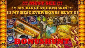 OMG MUST regard BONUS HUNT!!! MY BIGGEST EVER WIN + MY BEST EVER BONUSHUNT!!! INSANE WIN!!!