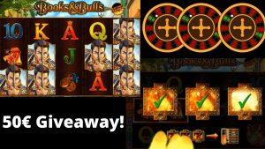 Online casino bonus Deutsch 50 Euro Verlosung!!! Books in addition to Bulls Mega large Win! von 20 auf über 300 Euro!