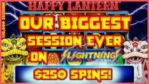 Our Best Session Ever on Lightning Link Happy Lantern ⚡️HIGH boundary $250 Spins (4) Handpay Jackpots