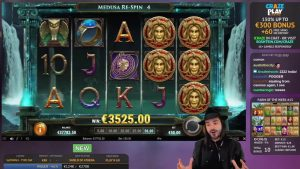 Roshtein Shield of Athena 5500€ – Online casino bonus large Win inwards Slots