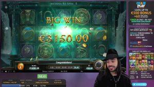 Roshtein Shield of Athena 7100€ – Online casino bonus large Win inwards Slots
