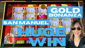 SAN MANUEL casino bonus • HUGE WIN on the PIGGIES • Au BONANZA