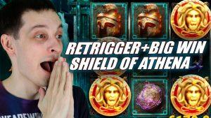 SHIELD OF ATHENA Slot Retrigger además de la gran victoria