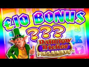 SLOTS large WIN – Rainbow Riches £10 BONUS !