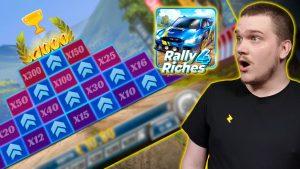 SUPER MEGA μεγάλο WIN ON RALLY 4 RICHES - JACKPOT PODIUM - (Play'n GO)