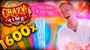 Streamer novel Mega win x1600 on Crazy Time – Top 5 large wins inward casino bonus slot