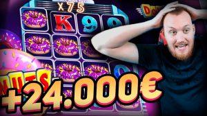Streamer tape win 25.000 € on Donuts – Top 5 large wins inwards casino bonus slot
