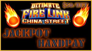 🔥Ultimate flame Link China Street JACKPOT HANDPAY 🔥HIGH boundary $50 MAX BET BONUS Slot Machine casino bonus 🔥