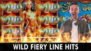 🔥 WILD Fiery Line Hits 🎰 Temple is on flame 🌋 Progressive Winning Bonus