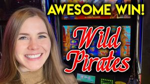 large WIN! Awesome Bonuses! Wild Pirates Slot Machine! Lucky first of all attempt!!