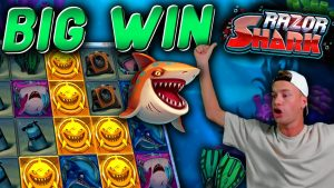 large WIN Bonus on Razor Shark