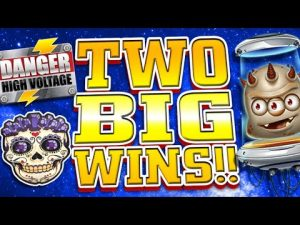 large WIN on Danger as well as Reactoonz Slots !