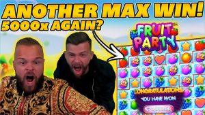 alguns outros ENORME MAX WIN em FRUITPARTY! GRANDE INSANE GANHE REAÇÃO ENGRAÇADA! grande vitória em slots online!