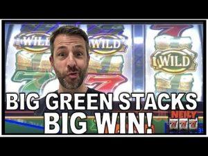 7 large dark-green STACKS large WIN! MAX BET WINS ON SLOTS!