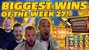 BIGGEST WINS OF THE calendar week 27! INSANE large WINS on Online Slots! TWITCH HIGHLIGHTS!