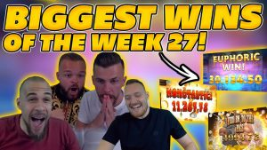 BIGGEST WINS OF THE calendar week 28! INSANE large WINS on Online Slots! TWITCH HIGHLIGHTS!