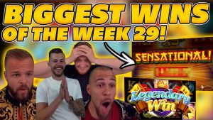 BIGGEST WINS OF THE calendar week 29! INSANE large WINS on Online Slots! TWITCH HIGHLIGHTS!