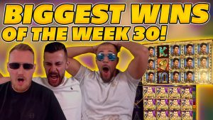 BIGGEST WINS OF THE calendar week 30! INSANE large WINS on Online Slots! TWITCH HIGHLIGHTS!