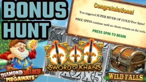 BONUS HUNT – £500 Start – Wild Falls (super river of Au) large WIN??, Diamond Mine Megaways + to a greater extent than