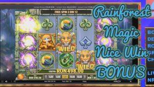 BONUS RAINFOREST MAGIC large WIN