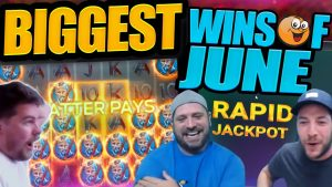COLLECTION OF large WINS!! Fruity Slots Highlights From June!